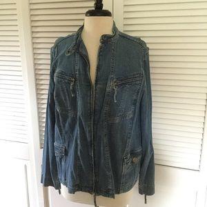 Style & Co Woman Denim ZIP jacket size 18w